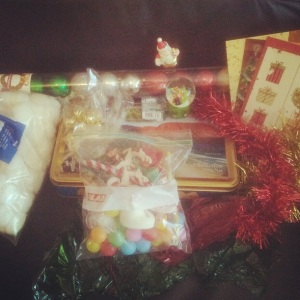 Christmas Sensory Box Beginning