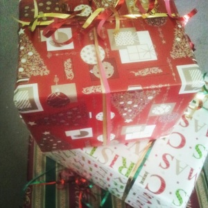 Close up Christmas Giftbox Decoration
