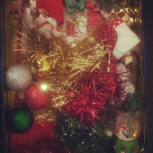 Finished Christmas Sensory Box