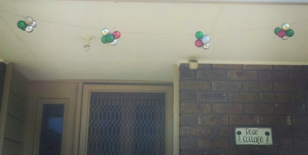 Christmas Bauble Bunting Home