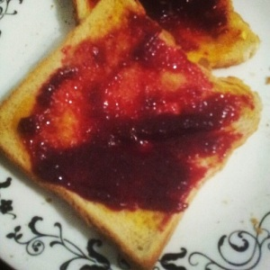 Loganberry Jam on Toast