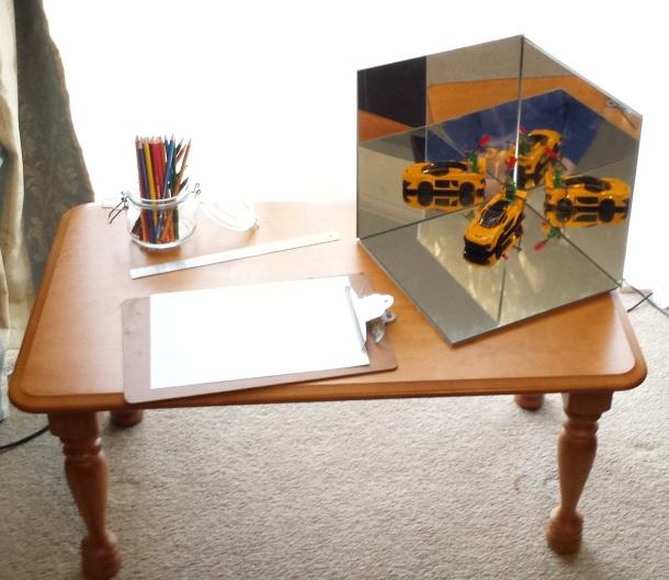 Set up DIY Mirror Box