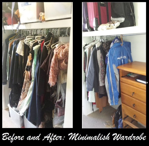 Before and After Minimalish Wardrobe